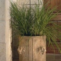 Cylindrical Lion Planter