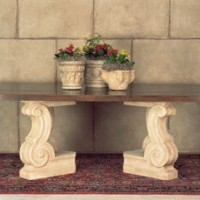 "Volute ""V"" Shaped Table Base"