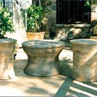 Cambodian Drum Table