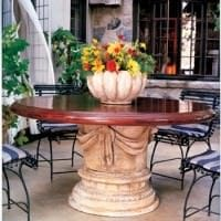 Draped Column Table Base