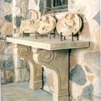 Scrolled Corbel Console Base/Pair