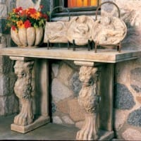 Lion Motif Console Base/Pair